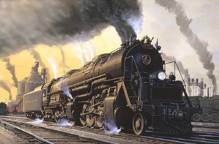 雅韵网---外国精品手绘火车作品欣赏,精美逼真!